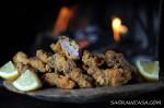 lamb fry in read crumbs