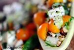 cucumber and mozzarella salad