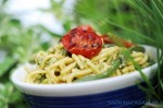 tonnarelli and green beans pesto