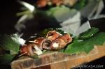 aubergine with mozzarella and prune