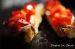 Bruschetta Ricotta Scante and chopped tomato