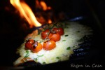 Scamorza cheese and grilled cherry tomatoes