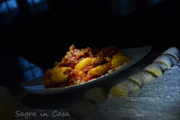 Homemade gnocchi with sausage ragù picture by Nick Cornish