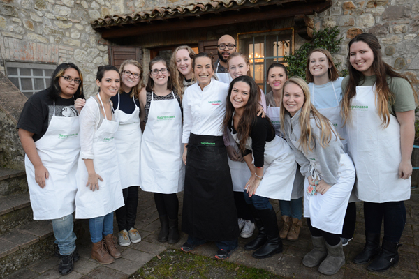 Myself and the lovley students from the Kansas University Aboard in Orvieto