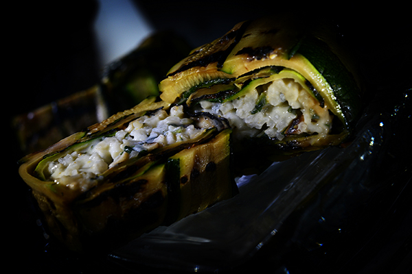 Pine nuts and Gorzonzola cheese Zucchini parcel